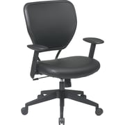 Office Star SPACE Plastic Managers Office Chair, Adjustable Arms, Black (5500V)