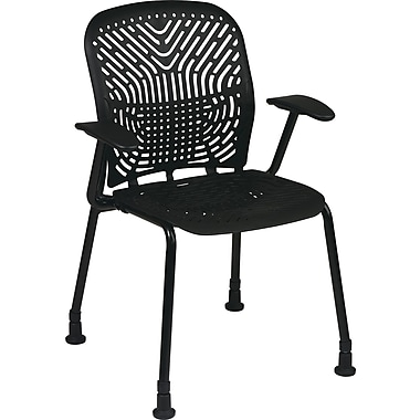Office Star SpaceFlex Metal Visitors Chair, Raven (801-333AG)