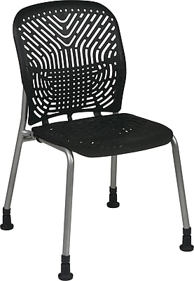 Office Star SpaceFlex® Platinum Seat and Back Guest Chair with Glide, Raven