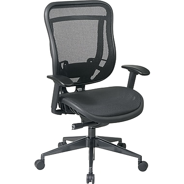 Office Star Mesh Executive Office Chair, Adjustable Arms, Black (818-11G9C18P)