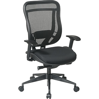 Office Star SPACE Mesh Executive Office Chair, Adjustable Arms, Black (818-31G9C18P)