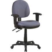 Office Star Fabric Managers Office Chair, Gray, Adjustable Arm (8180-226)