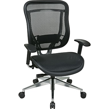 Office Star SPACE Mesh Executive Office Chair, Adjustable Arms, Black (818A-11P9C1A8)