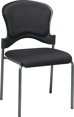 Office Star Proline II® Fabric Armless Guest Chair, Black