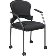 Office Star Proline II Metal Rolling Guest Chair, Coal (82740-30)
