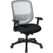 Office Star SPACE Mesh Executive Office Chair, Adjustable Arms, White/Black (829-3R1C728P)