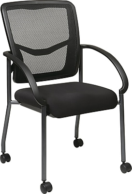 Office Star Proline II ProGrid Steel Guest Chair, Black (85640-30)