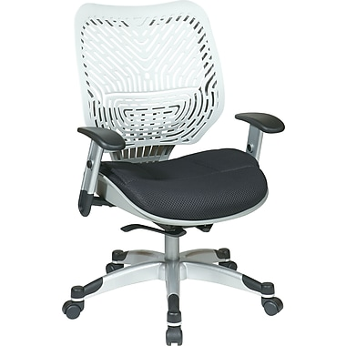Office Star Fabric Managers Office Chair, Ice/Raven, Adjustable Arm (86-M32C625R)