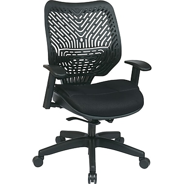 Office Star Fabric Managers Office Chair, Raven, Adjustable Arm (86-M33BN2W)