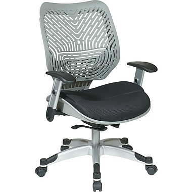 Office Star Fabric Managers Office Chair, Fog/Raven, Adjustable Arm (86-M34C625R)