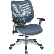 Office Star Fabric Managers Office Chair, Blue Mist, Adjustable Arm (86-M77C625R)