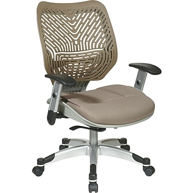 Office Star SPACE Fabric Managers Office Chair, Adjustable Arms, Latte (86-M88C625R)