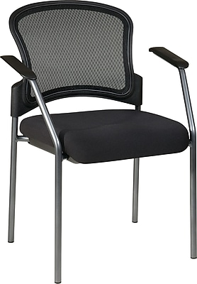 Office Star Proline II ProGrid Metal Guest Chair, Coal (86710-30)
