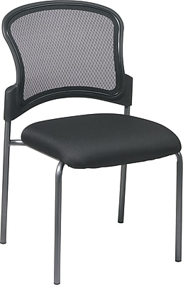 Office Star Proline II ProGrid Metal Guest Chair, Coal (86724-30)