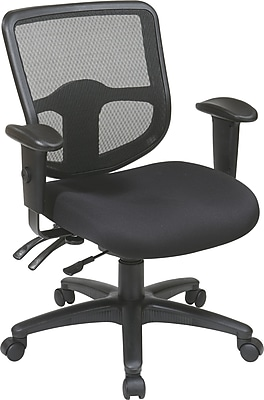 Office Star Proline II® ProGrid® Polyester Ergonomic Task Chair with Ratchet Back, Coal