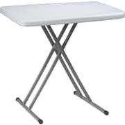 "Office Star Worksmart 30"" Personal Tray Table, White, 4/Pack (BT244)"