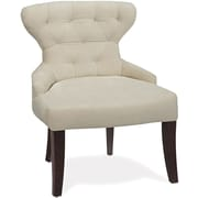 Office Star Ave Six Fabric Armless Chair, Oyster Velvet (CVS26-X12)