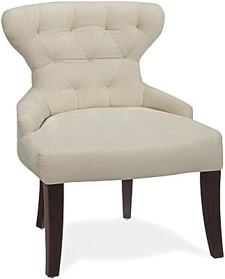 Office Star Ave Six Fabric Armless Chair, Oyster Velvet (CVS26-X12)