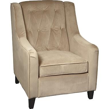 Office Star Ave Six Velvet Arm Chair, Coffee Velvet (CVS51-C27)