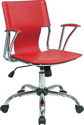 Office Star Avenue Six® Fabric Dorado Office Chair, Red