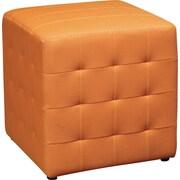 "Office Star Avenue Six® Detour 15"" Fabric Cube, Orange"