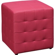 Office Star DTR15 Fabric/Wood Ottoman, Pink