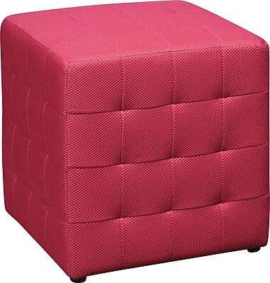 Office Star DTR15 Fabric/Wood Ottoman, Pink