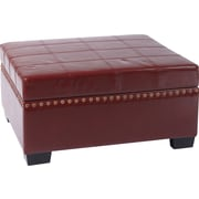 Office Star Avenue Six® Eco Leather Detour Storage Ottoman with Trays