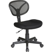 Office Star WorkSmart Mesh Computer and Desk Office Chair, Armless, Black (EM20600-3)