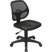Office Star Mesh Screen Back Task Chair, Black Vinyl