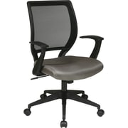 Office Star WorkSmart Mesh Computer and Desk Office Chair, Fixed Arms, Gray (EM51022N-2)