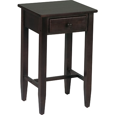 Office Star Products Wood/Veneer End Table, Espresso, Each (ES04)