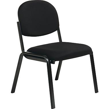 Office Star Worksmart Steel Visitors Chair, Black (EX31-231)