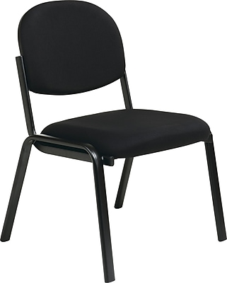 Office Star Worksmart Steel Visitors Chair, Black (EX31-231)