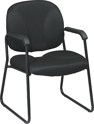 Office Star WorkSmart™ Fabric Guest Chair, Black