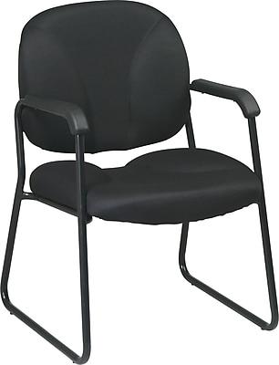 Office Star Worksmart Metal Executive Guest Chair, Black (EX3302-231)