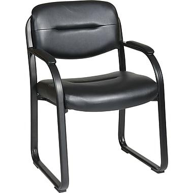 Office Star Worksmart Metal Guest Chair, Black (FL1055-U6)