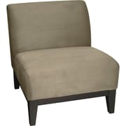 Office Star Ave Six Fabric Armless Chair, Brown (GLN51-S62)