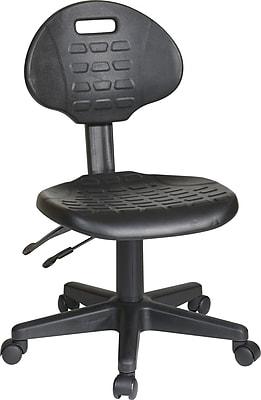 Superieur Office Star WorkSmart™ Urethane Ergonomic Stool With Seat Tilt And Back  Angle Adjustment, Black