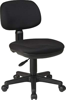 Office Star Fabric Computer and Desk Office Chair, Black, Armless Arm (SC117-231)