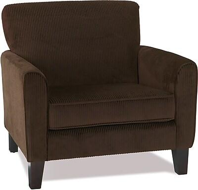 Office Star Ave Six Fabric Sierra Chair, Corduroy Coffee (SRA51-C47)