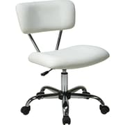 Office Star Ave Six Fabric Computer and Desk Office Chair, Armless, White (ST181-V11)