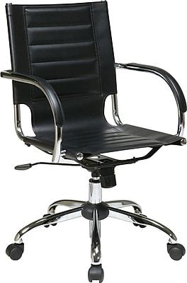 Office Star Avenue Six® Vinyl Trinidad Office Chair, Black