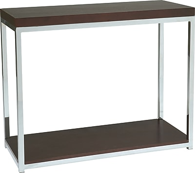 Office Star Products Wall Street Wood Console Table, Espresso, Each (WST07)