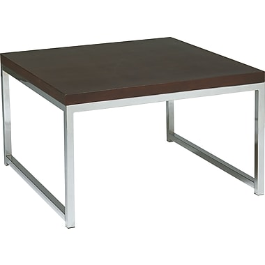 Office Star Products Wall Street Melamine Coffee Table, White, Each (WST17)