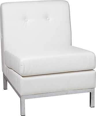 Office Star Avenue Six® Wall Street Armless Chairs, White