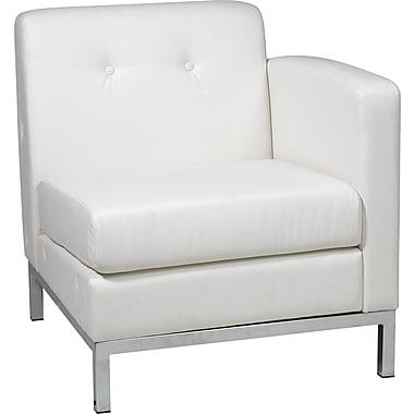 Office Star Avenue Six® Wall Street Single Arm Chairs RAF, White