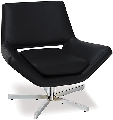 Office Star Ave Six Faux Leather Wide Chair, Black (YLD5130-B18)