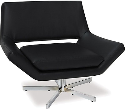 Office Star Yield Faux Leather Wide Chair, Black (YLD5141-B18)
