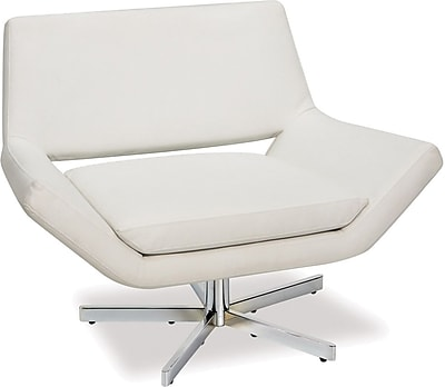 Office Star Yield Faux Leather Wide Chair, White (YLD5141-W32)